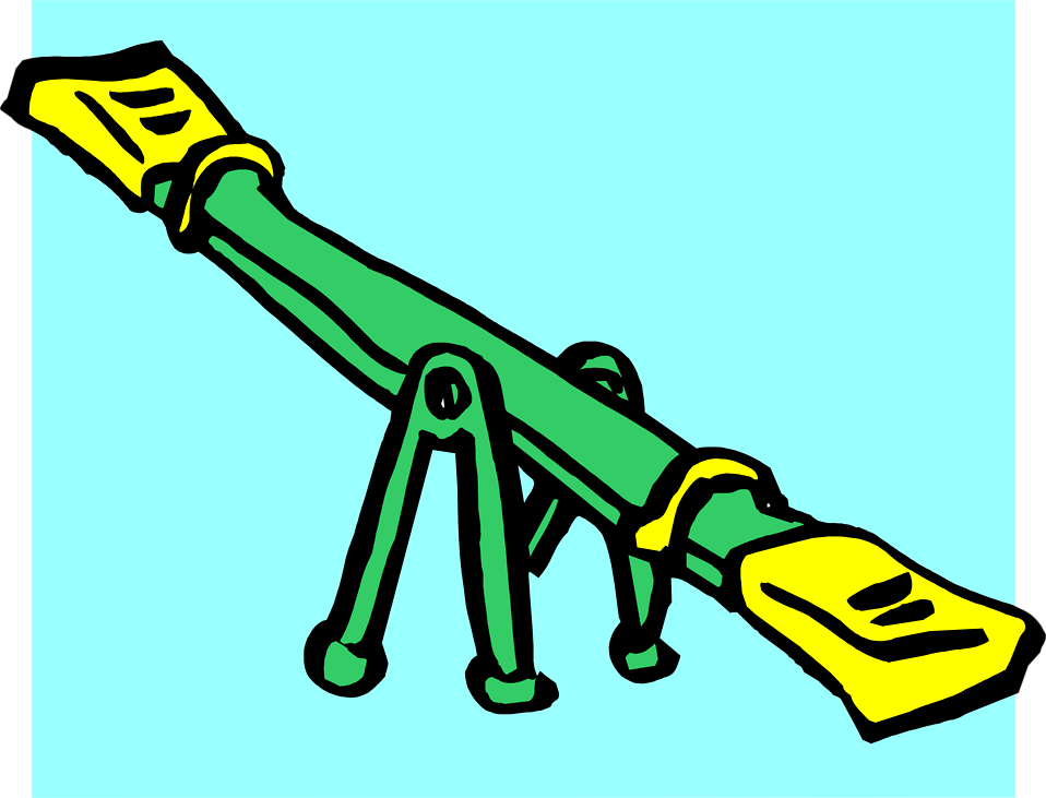 Illustration of a see-saw : Free Stock Photo