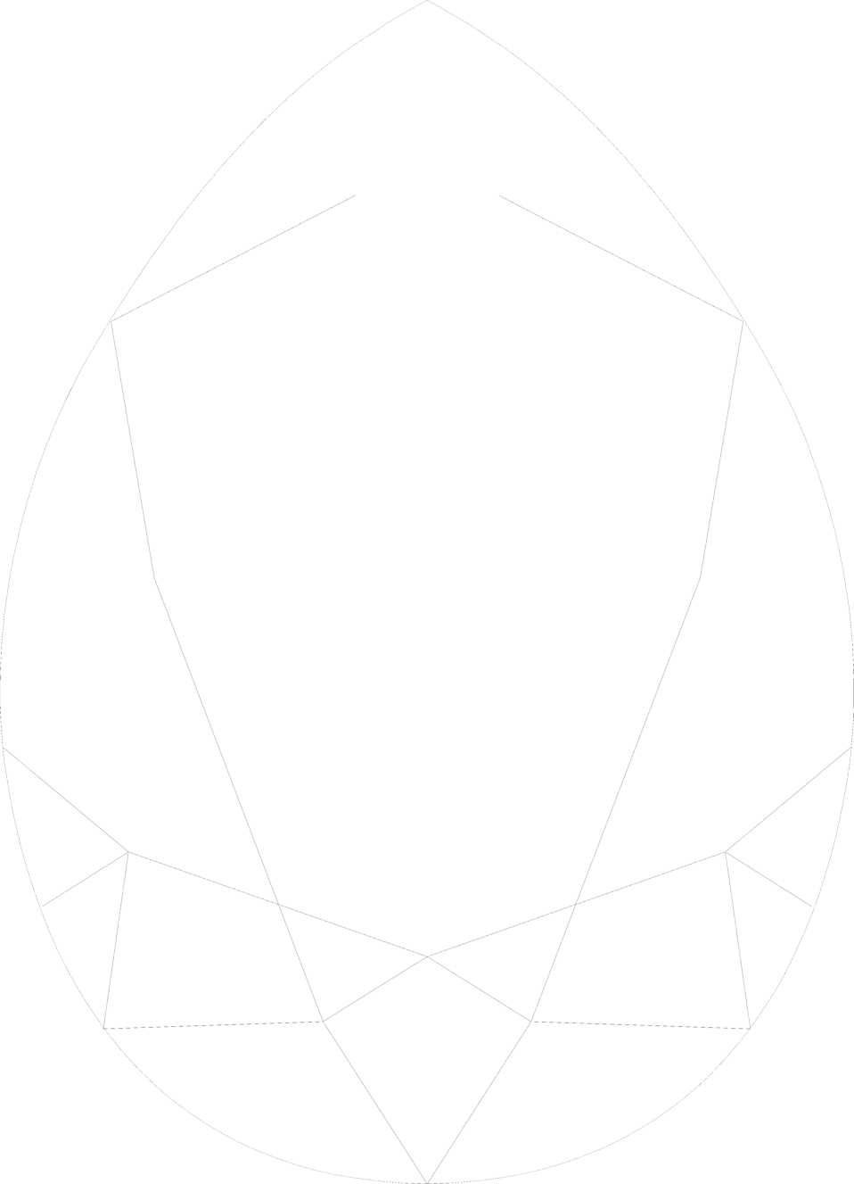 Illustration of an egg shaped gem : Free Stock Photo