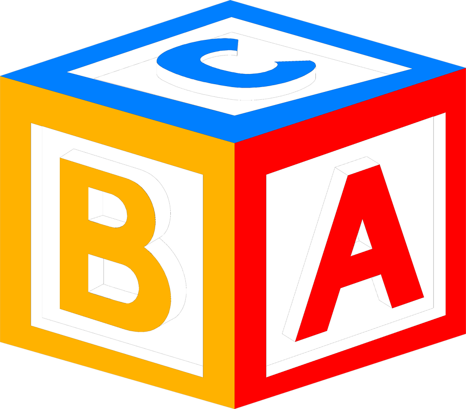 Illustration of a block with abc's on it : Free Stock Photo