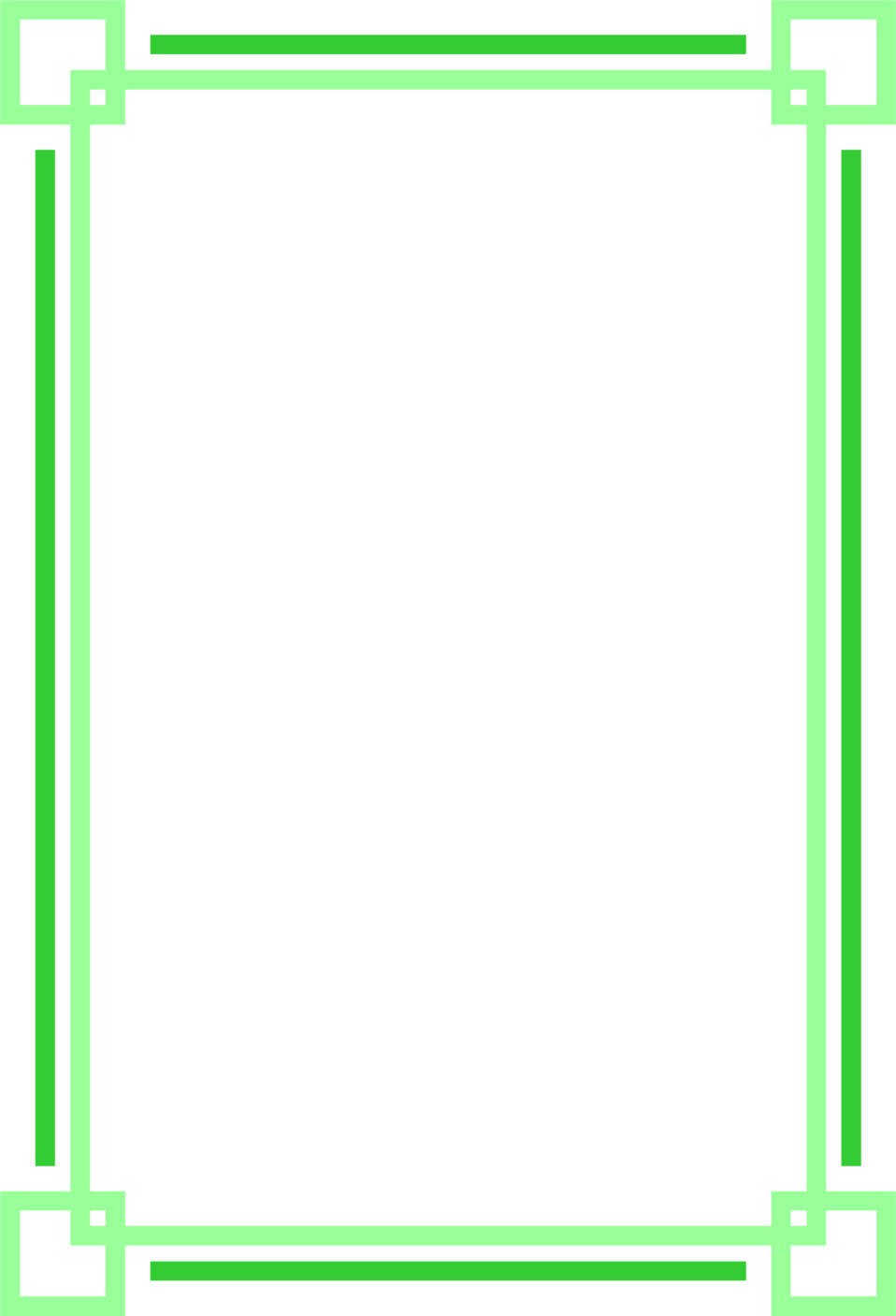 Illustration of a blank green frame border : Free Stock Photo