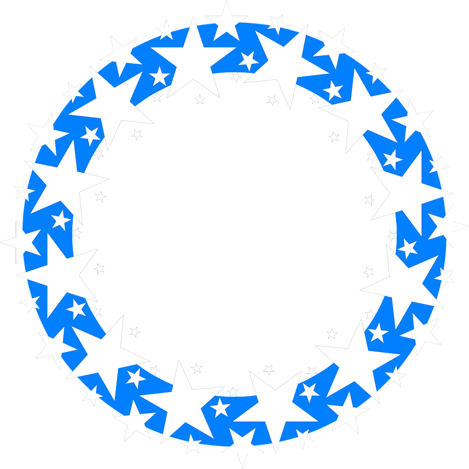 Illustration of a blue circle with white stars : Free Stock Photo