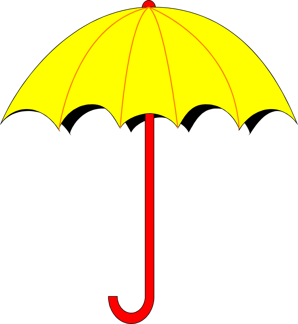 Illustration of a yellow umbrella : Free Stock Photo