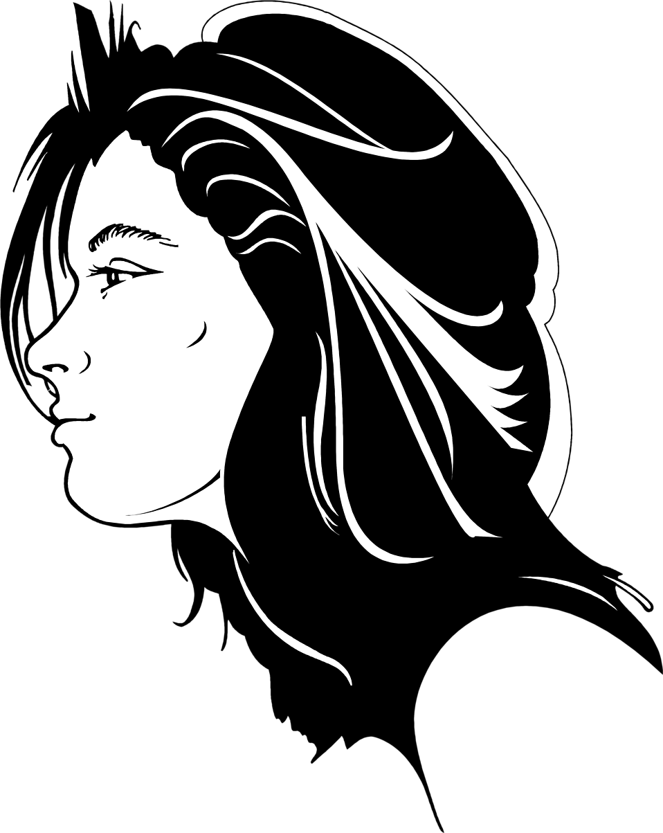 Illustration of a girl's profile : Free Stock Photo