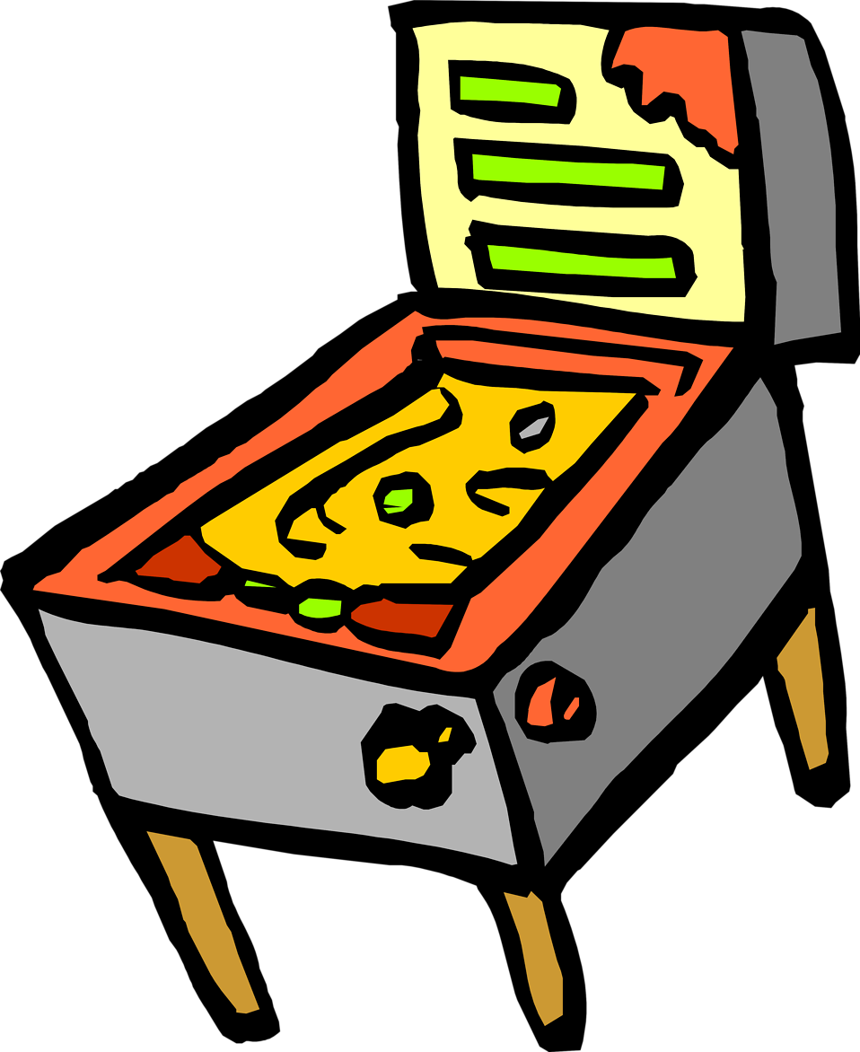 Illustration of a pinball machine : Free Stock Photo