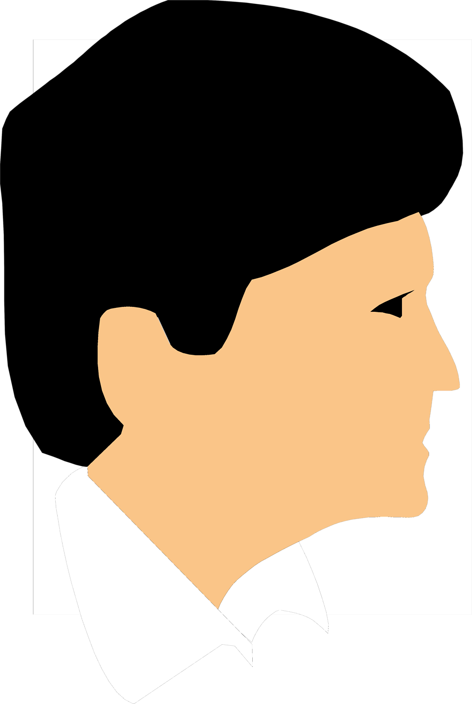 Illustration of a profile of a man's face : Free Stock Photo