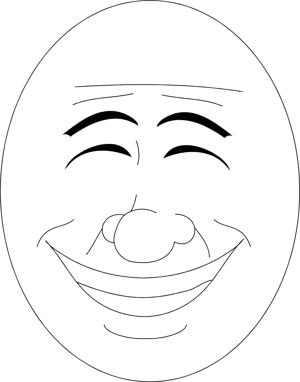 Illustration of a happy smiling face : Free Stock Photo