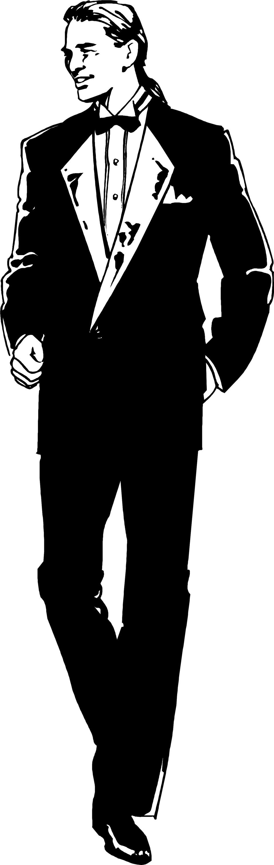 Illustration of a handsome man in a tuxedo : Free Stock Photo