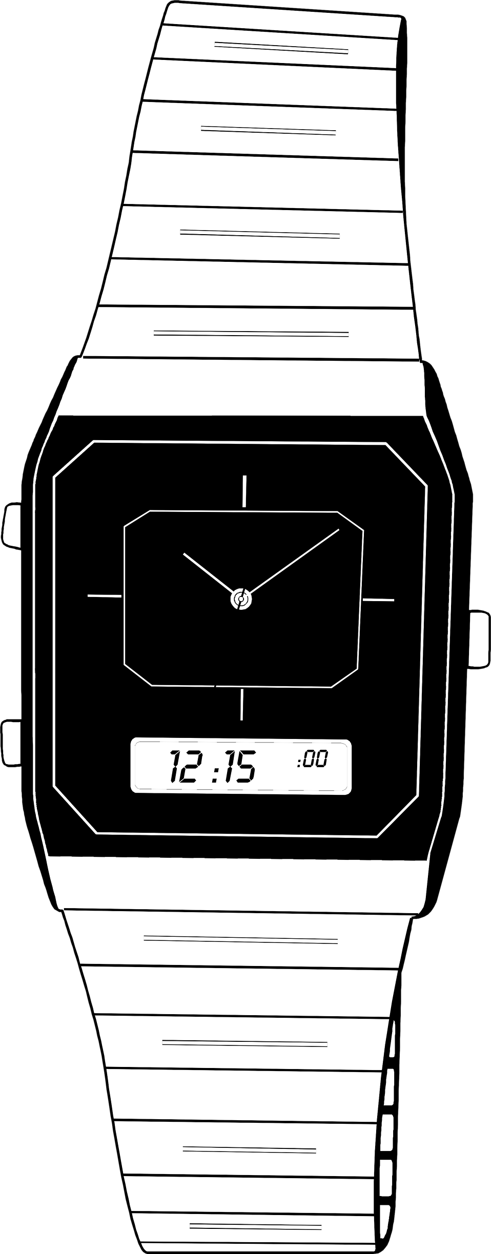 Illustration of a digital wrist watch : Free Stock Photo