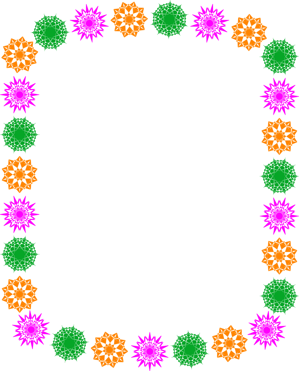 Free stock photos illustration of a blank frame border with - Illustration Of A Blank Frame Border Of Colored Shapes Free Stock Photo