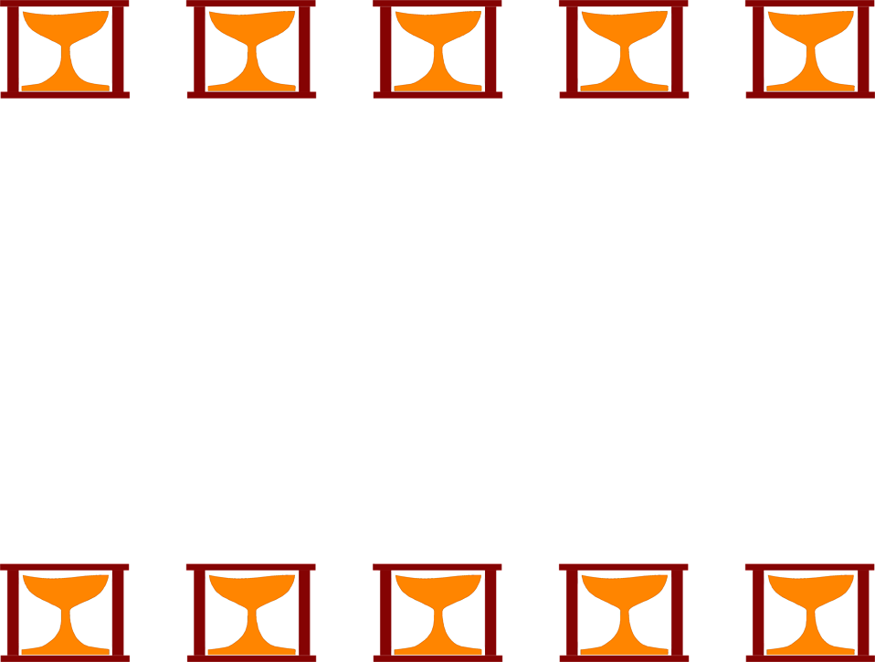 Illustration of a blank frame border with orange shapes : Free Stock Photo