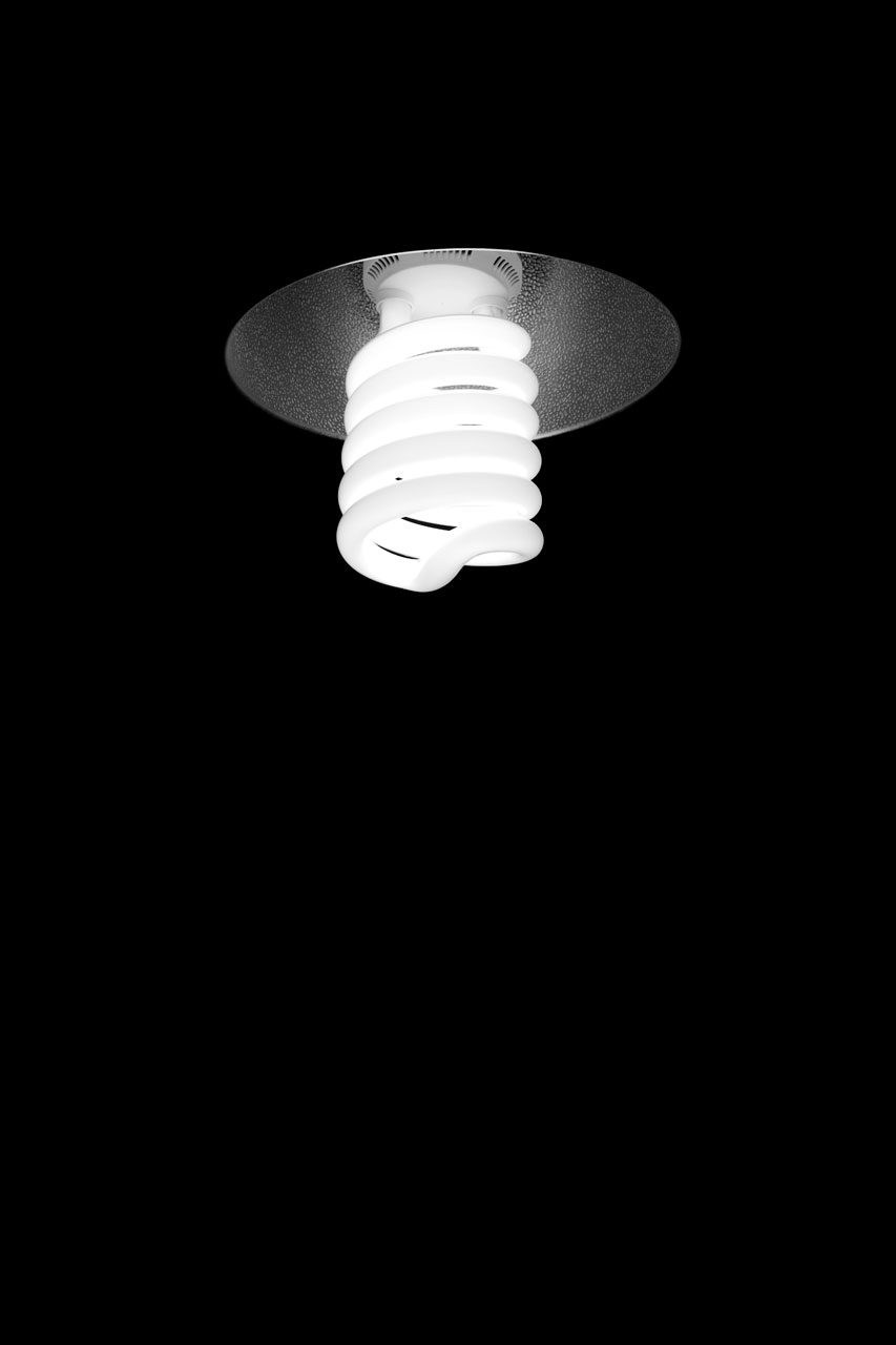 A compact fluorescent light bulb : Free Stock Photo