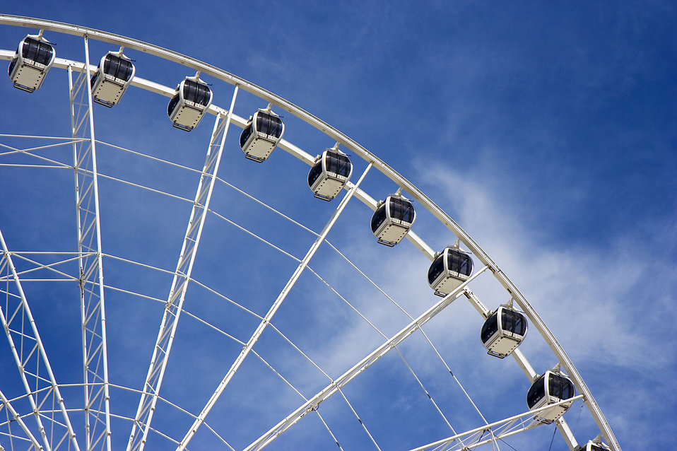 Close-up of a large ferris wheel : Free Stock Photo