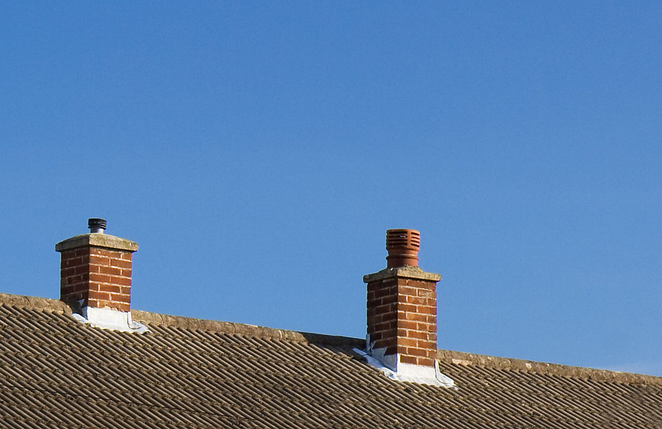 Chimneys on top of a house : Free Stock Photo