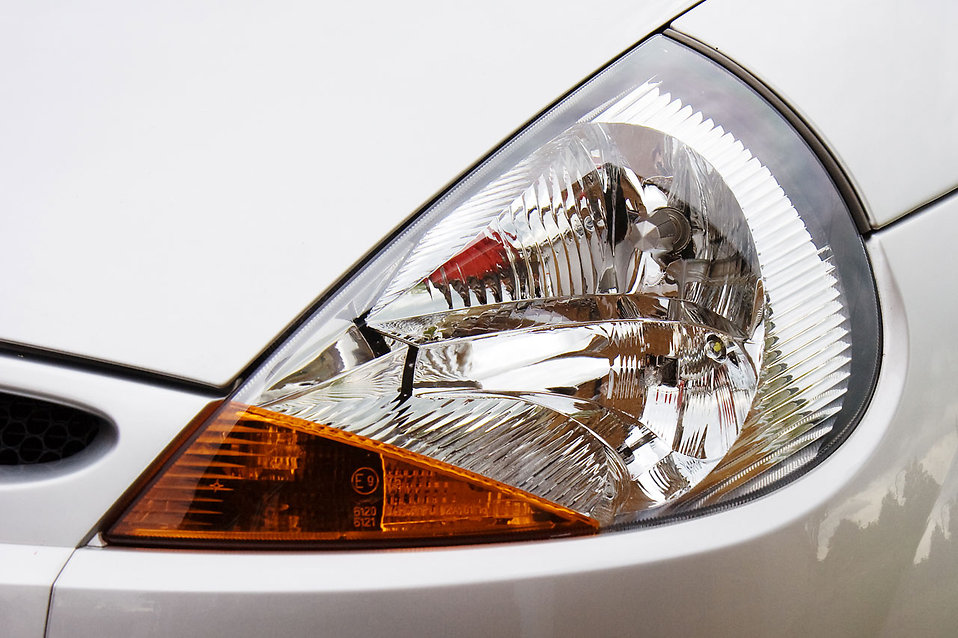 Close-up of a car headlight : Free Stock Photo