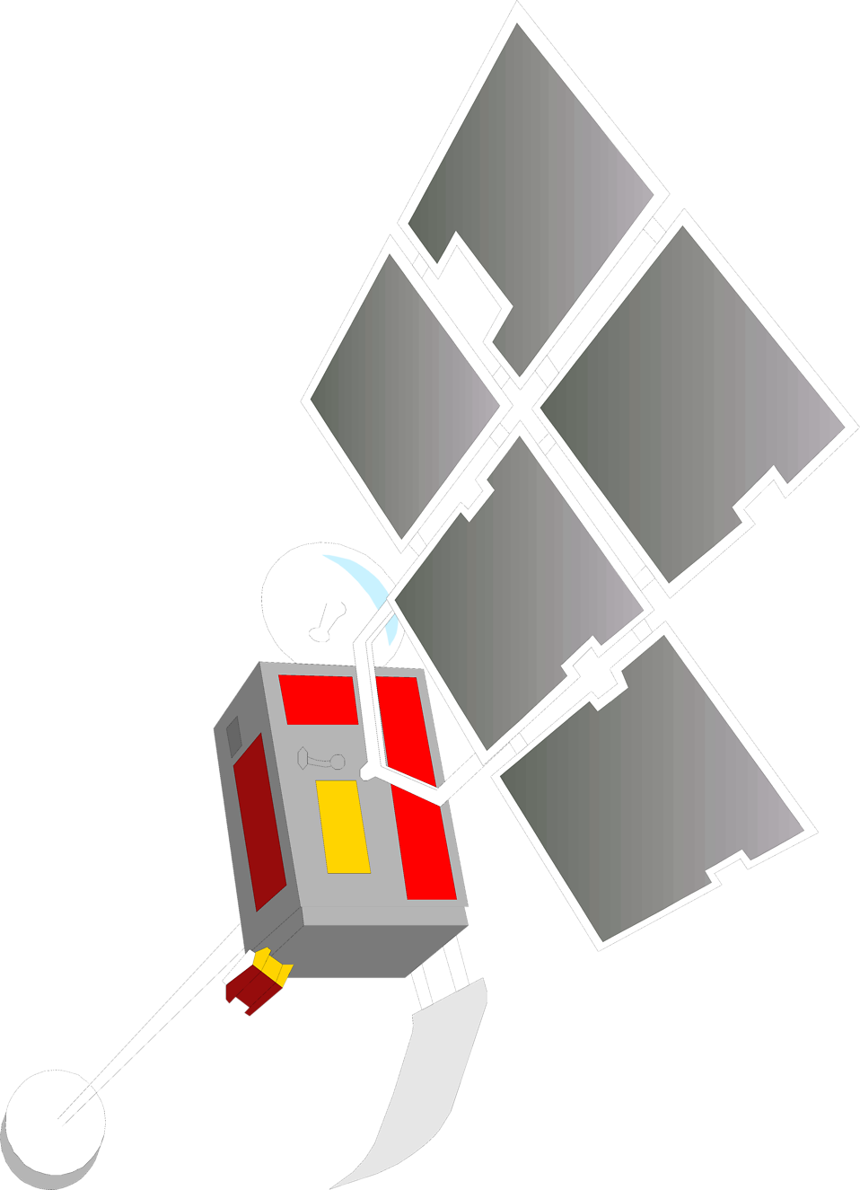 Illustration of a space satellite : Free Stock Photo