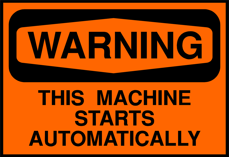 Illustration of machine warning sign : Free Stock Photo