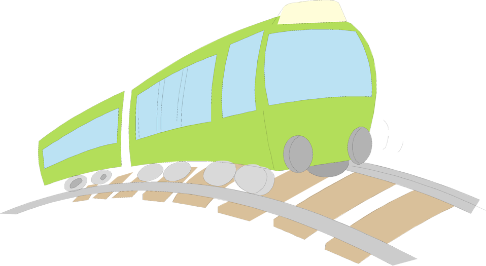 Illustration of a green train : Free Stock Photo