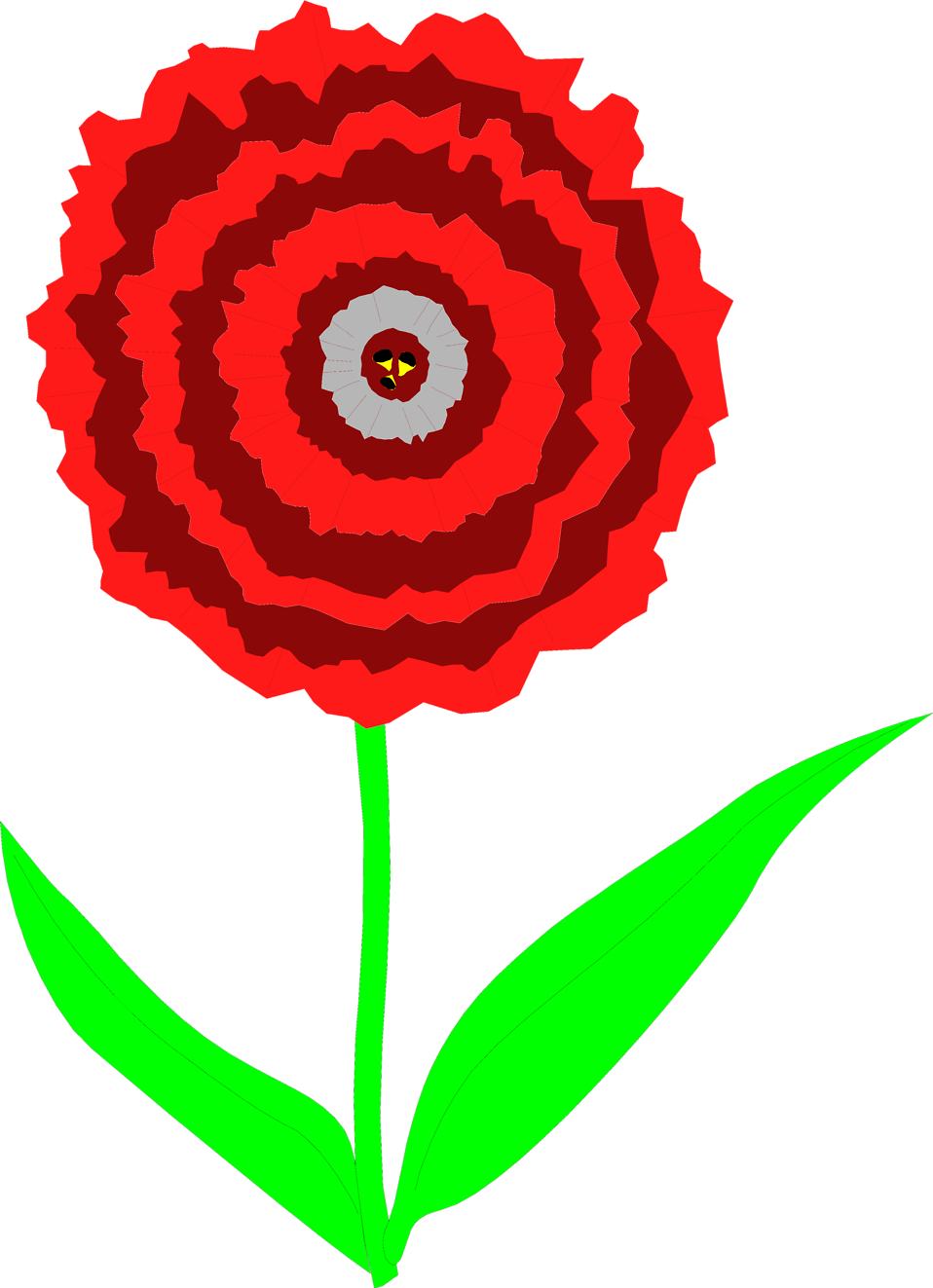 Illustration of a red carnation flower : Free Stock Photo