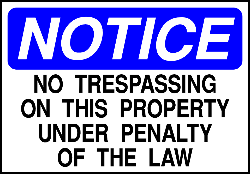 Illustration of a no trespassing notice sign : Free Stock Photo