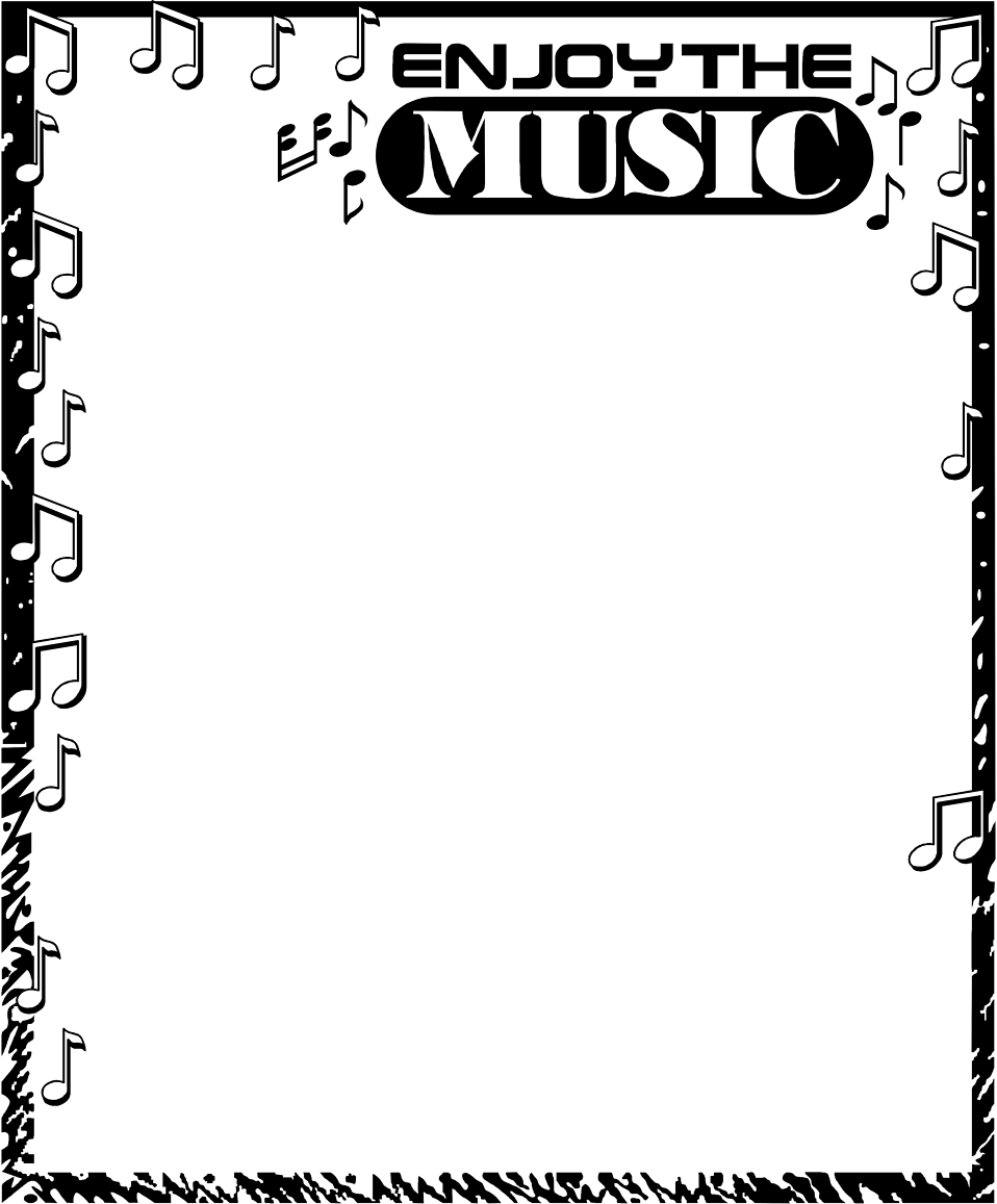 Illustration of a blank music frame border : Free Stock Photo
