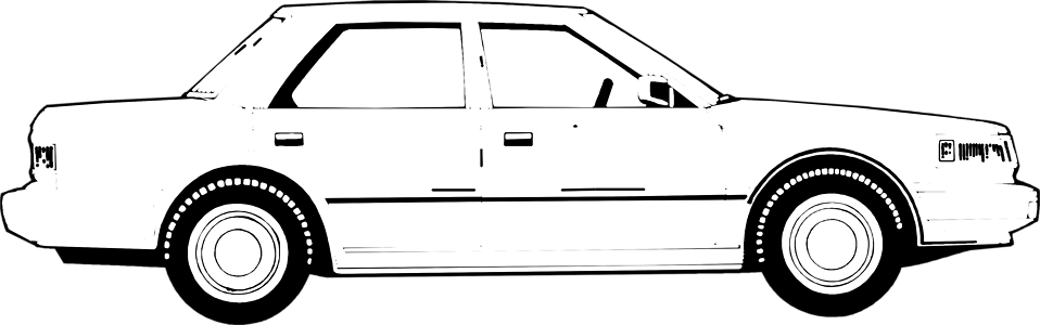 Illustration of a 4-door sedan : Free Stock Photo