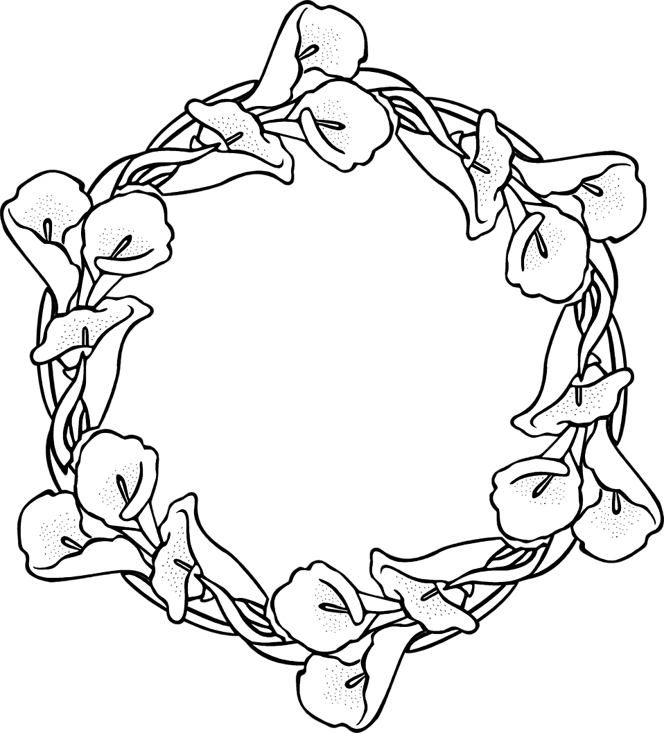 Illustration of a wreath of flowers : Free Stock Photo