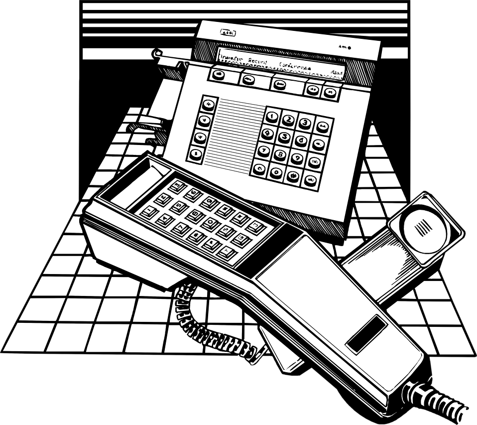 Illustration of business phones : Free Stock Photo