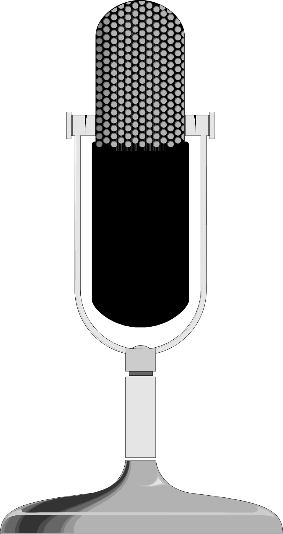 Illustration of a microphone : Free Stock Photo
