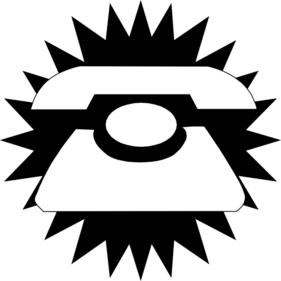 Illustration of a telephone silhouette : Free Stock Photo