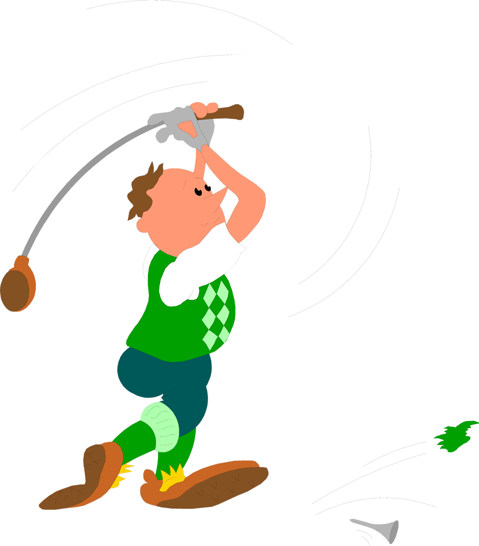 Illustration of a man hitting a golf ball : Free Stock Photo