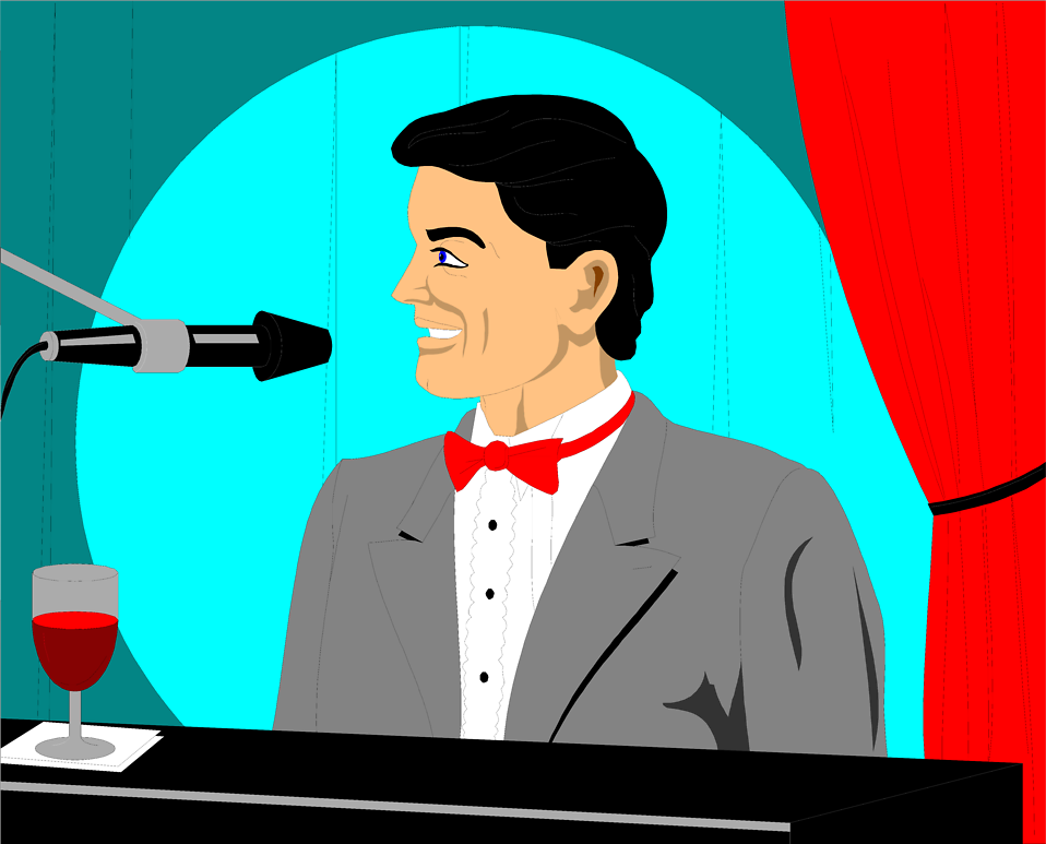 Illustration of a man playing a piano : Free Stock Photo