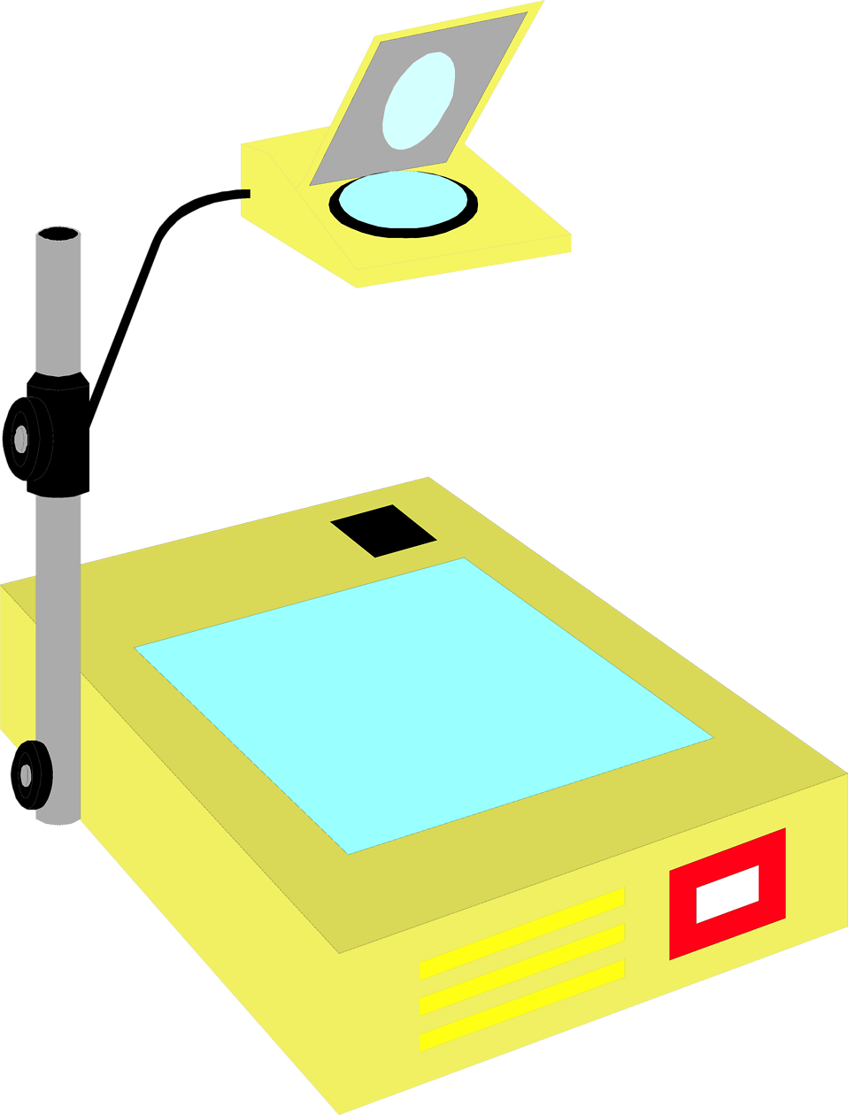 Illustration of an overhead projector : Free Stock Photo