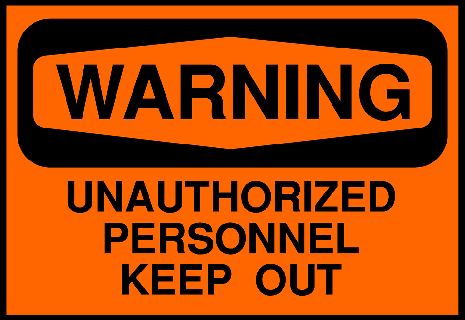 Illustration of a keep out warning sign : Free Stock Photo