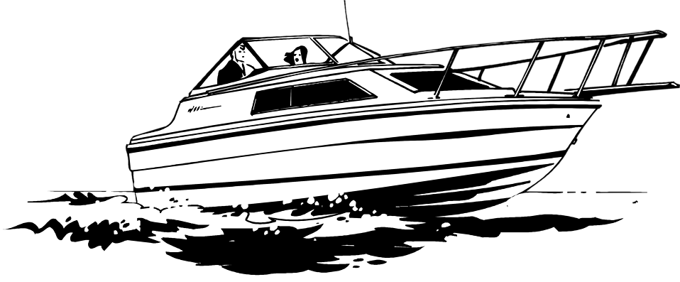 Illustration of a speedboat : Free Stock Photo
