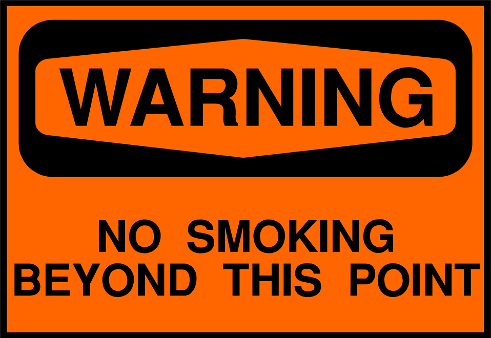 Illustration of a no smoking warning sign : Free Stock Photo