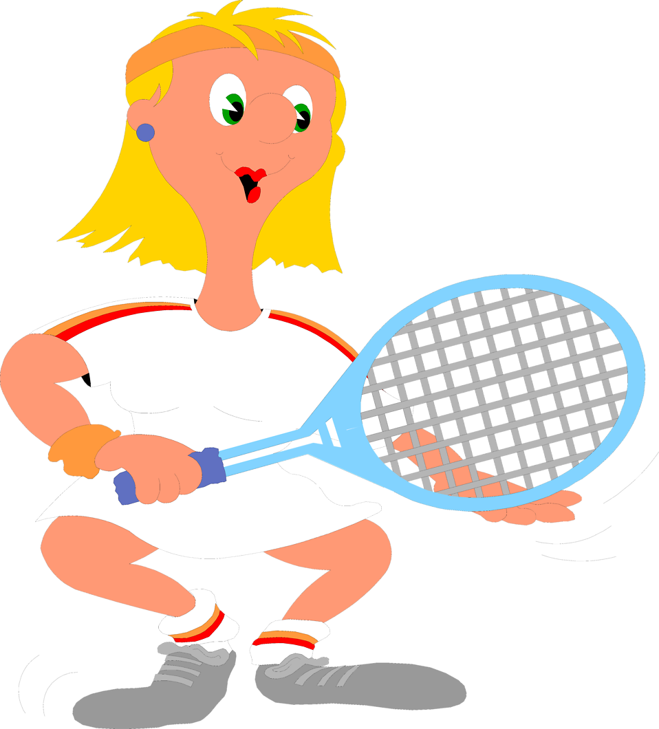 Illustration of a woman with a tennis racquet : Free Stock Photo