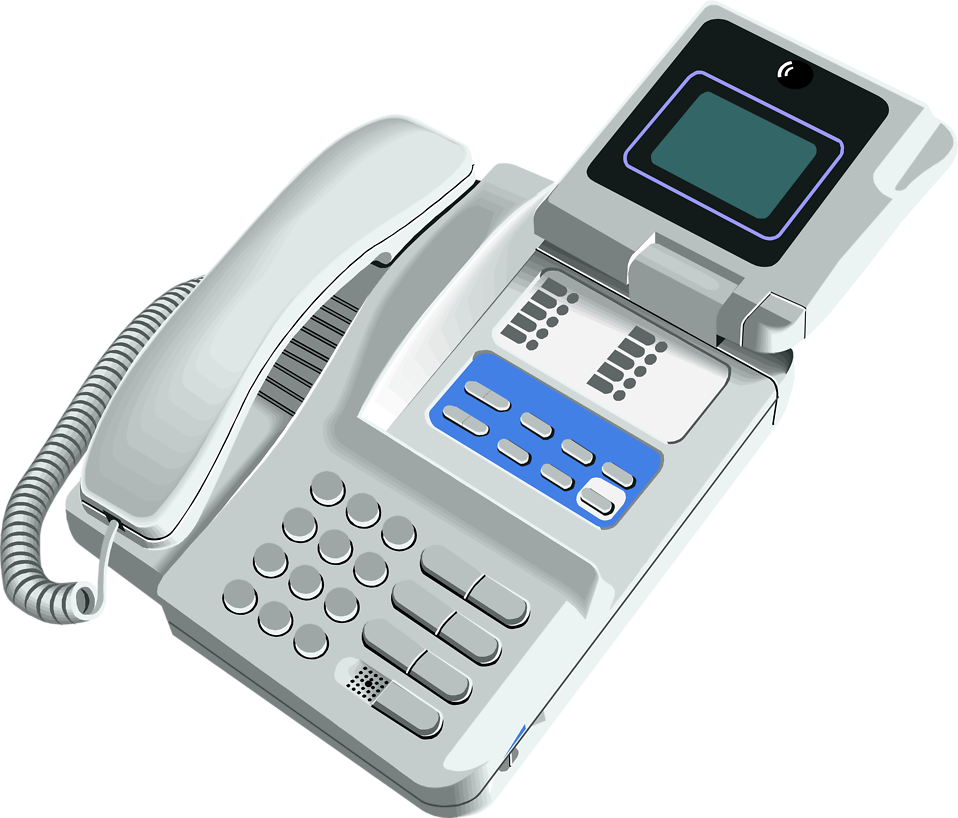 Illustration of a telephone with a video screen : Free Stock Photo