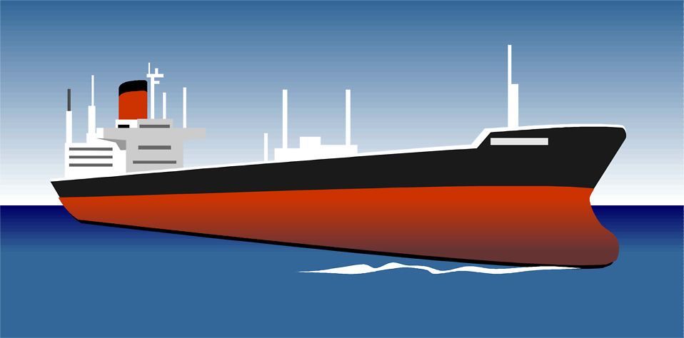Illustration of a commercial ship : Free Stock Photo
