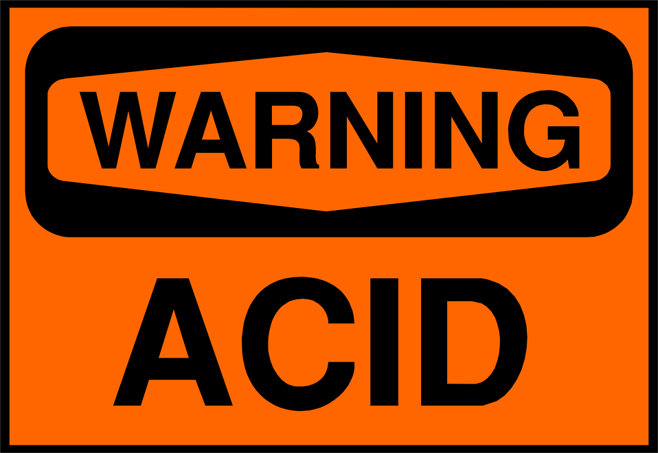 Illustration of an acid warning sign : Free Stock Photo