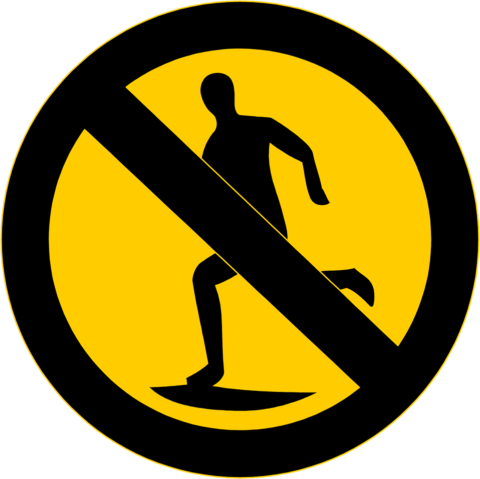 Illustration of a no running symbol : Free Stock Photo