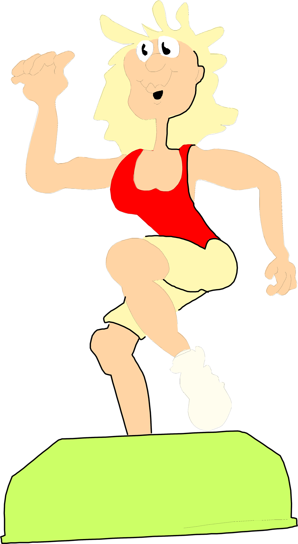Illustration of a woman doing aerobics : Free Stock Photo