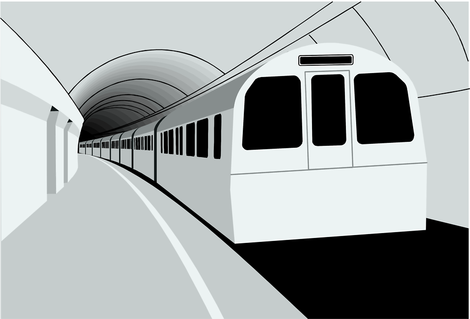 Illustration of a subway train : Free Stock Photo