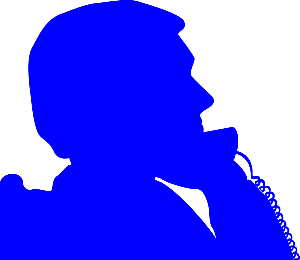 Illustration of a man on the phone silhouette : Free Stock Photo