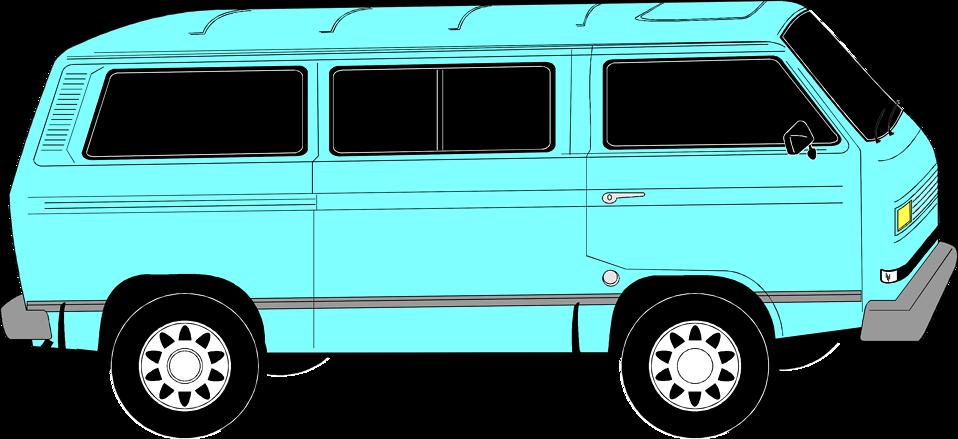Illustration of a blue van : Free Stock Photo