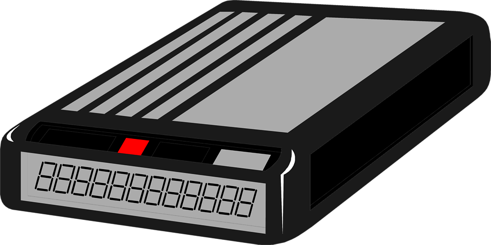 Illustration of a black pager : Free Stock Photo