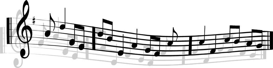 Illustration of music notes.