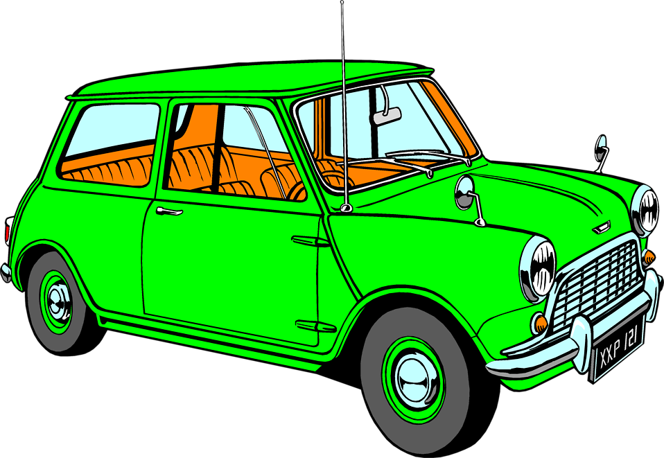 Illustration of a green hatchback : Free Stock Photo
