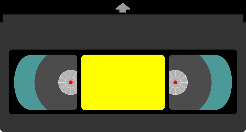 Illustration of a video cassette tape : Free Stock Photo