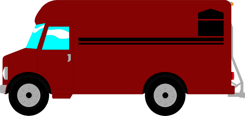 Illustration of a delivery van : Free Stock Photo
