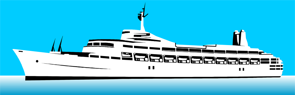 Illustration of a cruise ship : Free Stock Photo